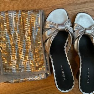 Sparkly Gold/Silver Sequence Holiday Scarf from Ch